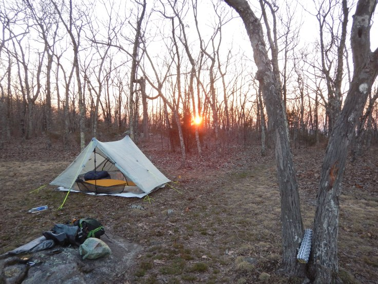 Amazing sunset at camp