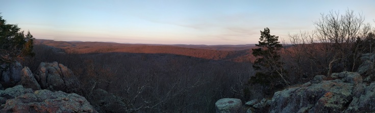 View from camp at the top